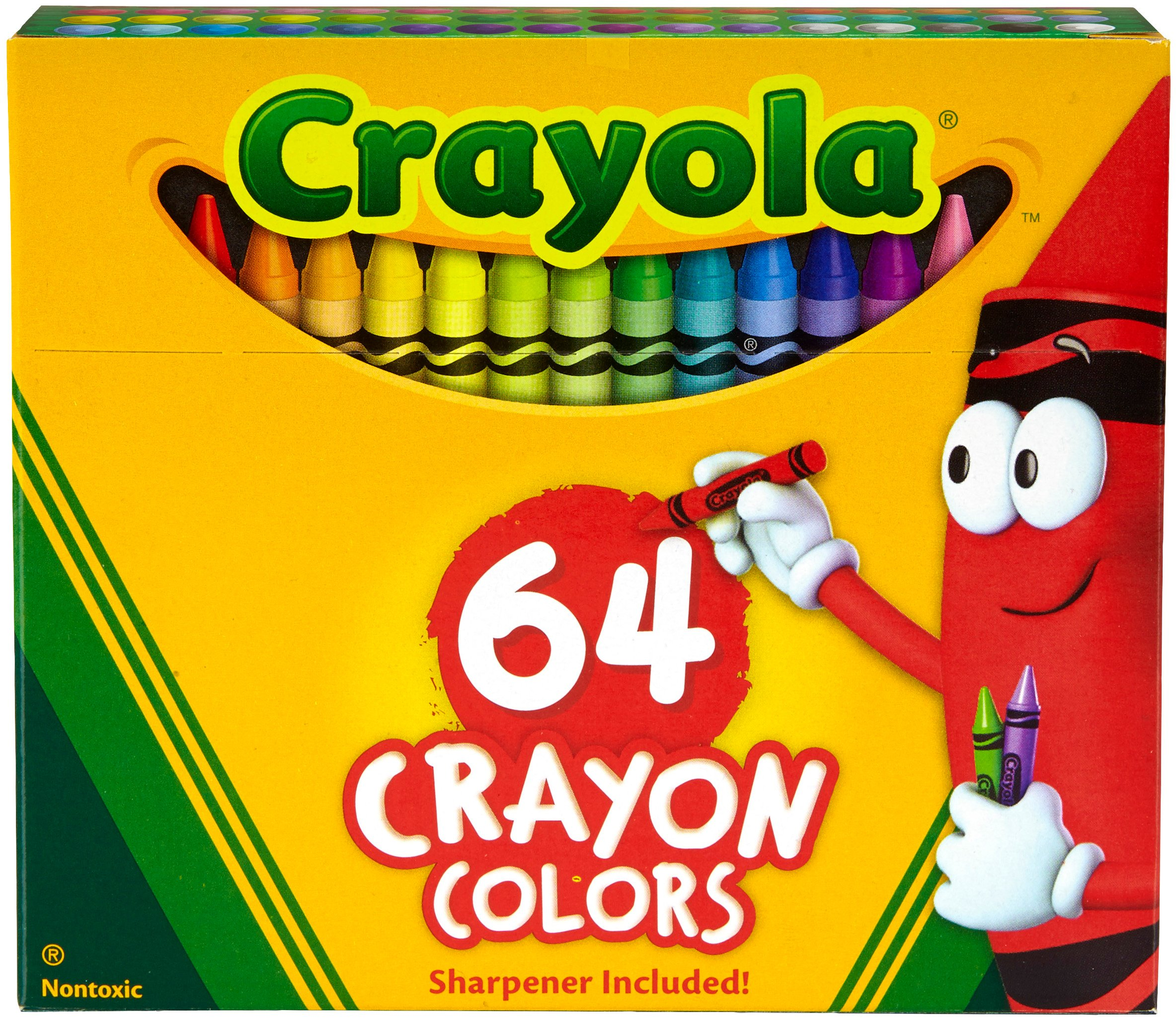 "Crayola TRTAZ11A 071662000646 Crayon Set, 3-5/8"", Permanent/Waterproof, 64/BX, Assorted, Sold as 1 Box"