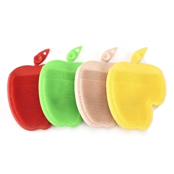 Apple-shape Silicone Dish Washing Cleaning Gloves SW-KG327