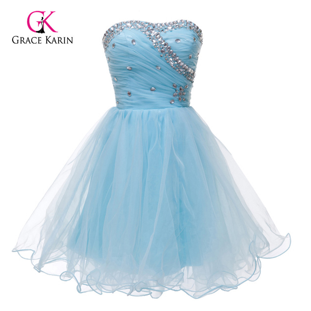Get Quotations · Lovely Beadings Black White Pink Blue Short Homecoming  Dresses Cheap Sweetheart Prom Gown a05717a09