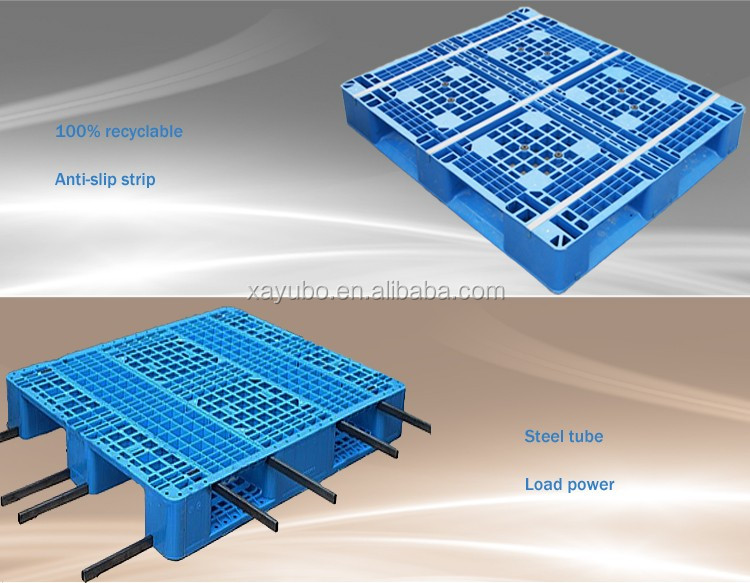 1100*1100 heavy duty double sides resuable cargo plastic pallet
