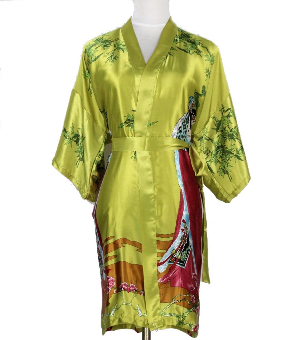 Online Buy Wholesale green silk robe from China green silk ...