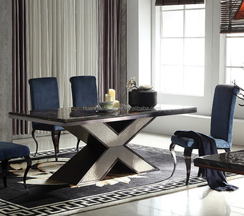 201 Steel Strong Base Marble Top Latest Modern X Design Rectangular Dining Table Buy Dining Table Rectangular Dining Table Latest Designs Of Dining Tables Product On Alibaba Com