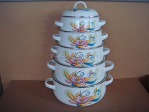 enamel storage bowl set