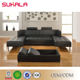 Sale leather living room furniture sleeper couch with L shape sectional furniture
