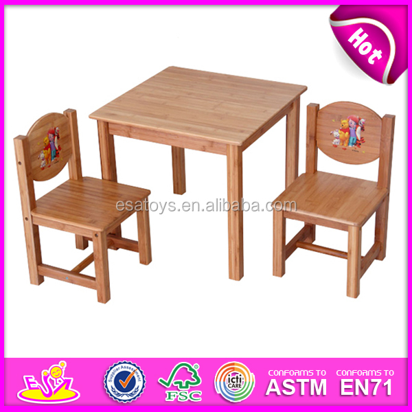 2015 Hot Sell Wooden Kids Table Sets Modern Cheap Kids Study Table