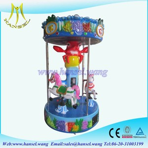Hansel Mini Carousel Ride, 3 Seats Carousel for Kiddie Play