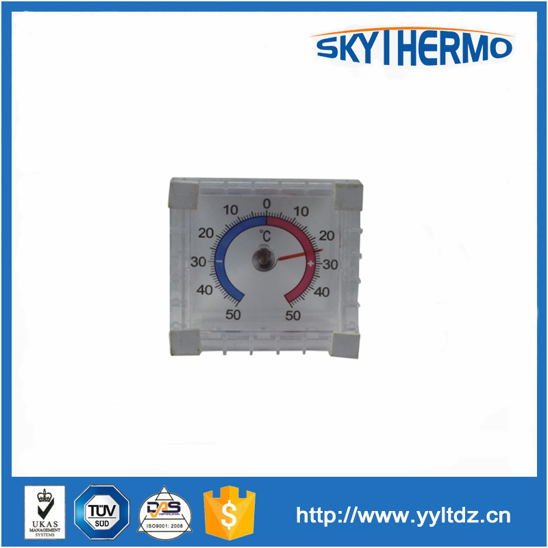 plastic cover sticker bimetal theory window outdoor thermometer