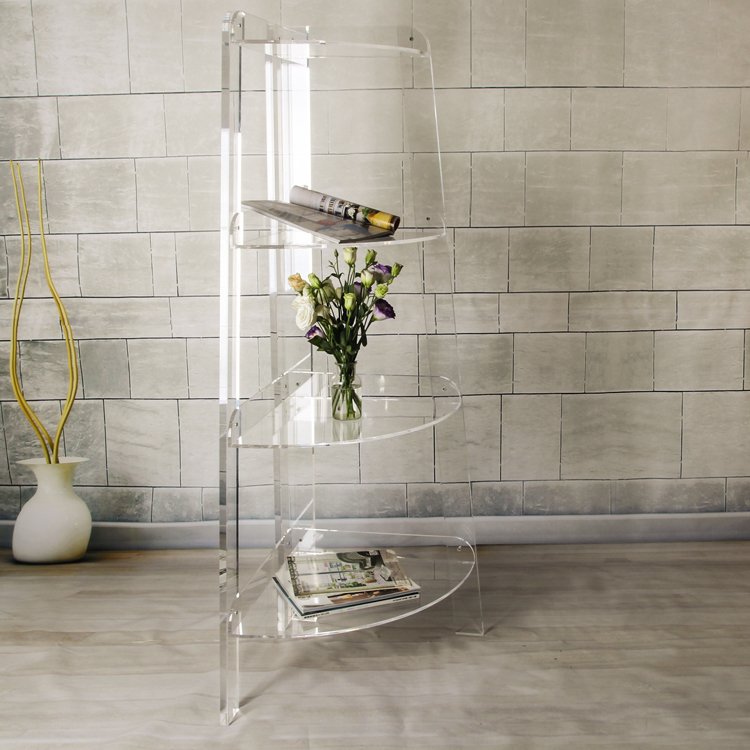 Personalizzato Nuovo Design Moderno Acrilico Trasparente Scaffale Con 4 Strati