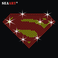 Cool T-shirts <span class=keywords><strong>Superman</strong></span> Rhinestone Transfer Voor T-shirts