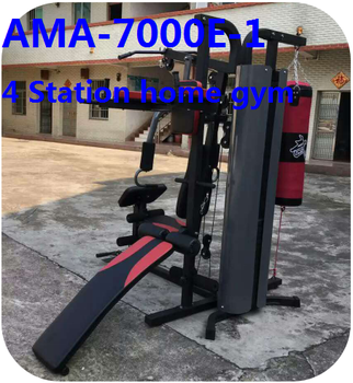 Multifunction Gym Equipment 4 Station Best Home Gym Machine With Boxing /  Low Row / Lat Put Down / Sit Up Bench Ama-7000e/1 - Buy Multifunction Gym