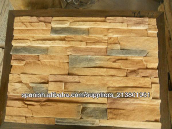 Piedra artificial para la decoraci n de la pared exterior - Pared de piedra artificial ...