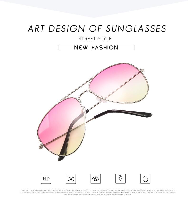 2019 Free Sample Classic Women Branded Clear Gradient Sun Glasses Sunglasses
