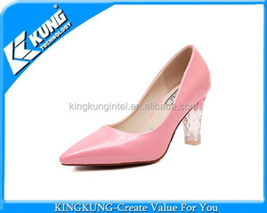 Boots and shoes online light LED heels shoes for women suede closed toe high heels pump