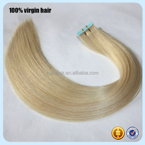 New Product hot in USA Free Sample 100% Peruvian human super blue tape virgin hair extension
