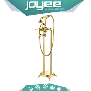JOYEEbrass marine floor standing faucets brass Freestanding Bathtub Mixer Tap