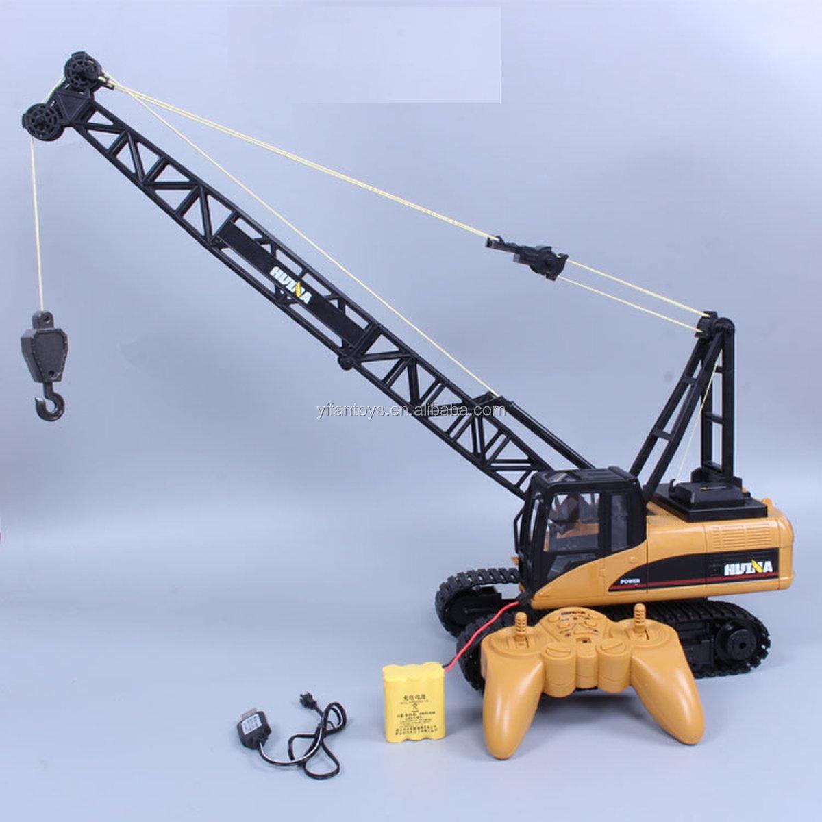 RC Truck Crawler Tower Crane Hoist Dragline Die-cast Model Lifiting Cable Remote