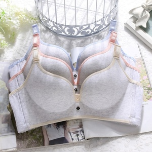 ladies comfortable cotton bras seamless wire free brassier laser cut one piece bra