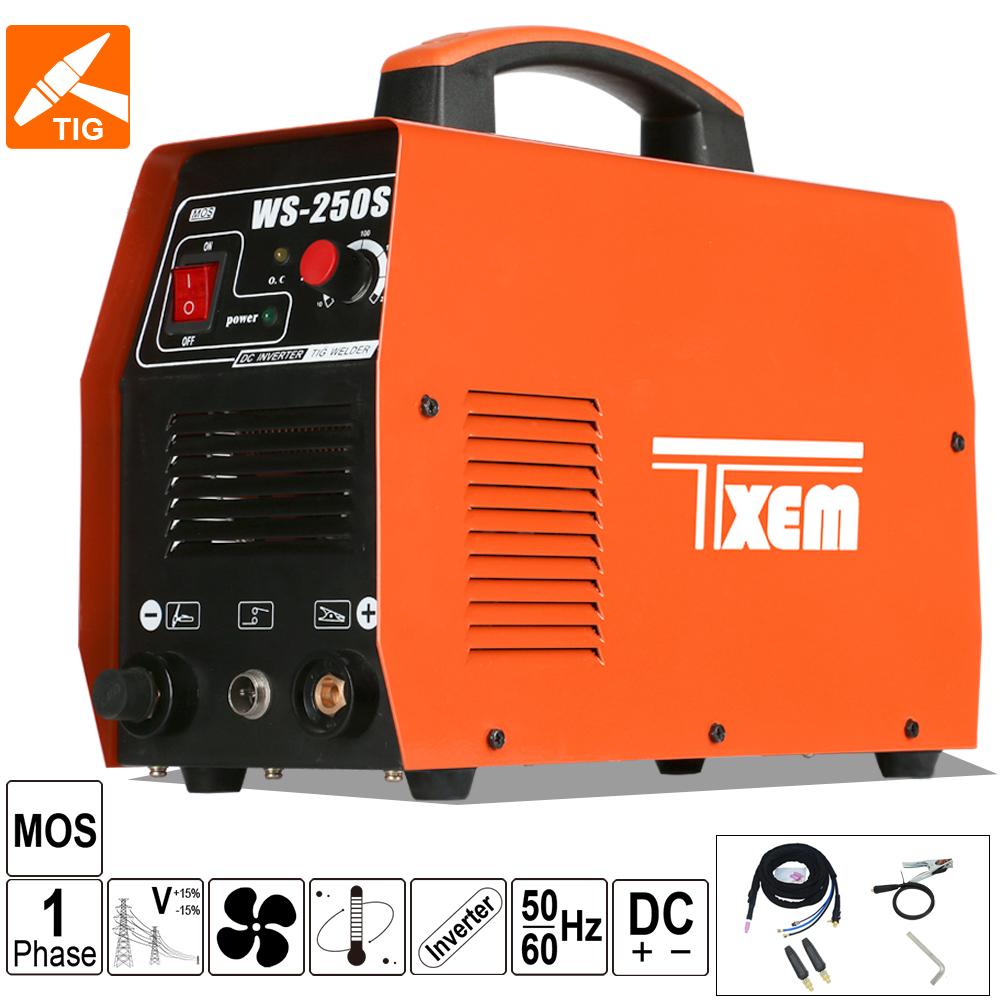 Inversor de soldadura de aluminio WS-250/soldador ac dc tig/soldadora ac dc tig 500 máquina de soldadura Argón gas 400 amp tig máquina de soldadura