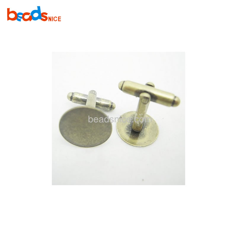 Brass Titanium Promotion Base Diameter:15mm Custom Silk Knot Cufflinks