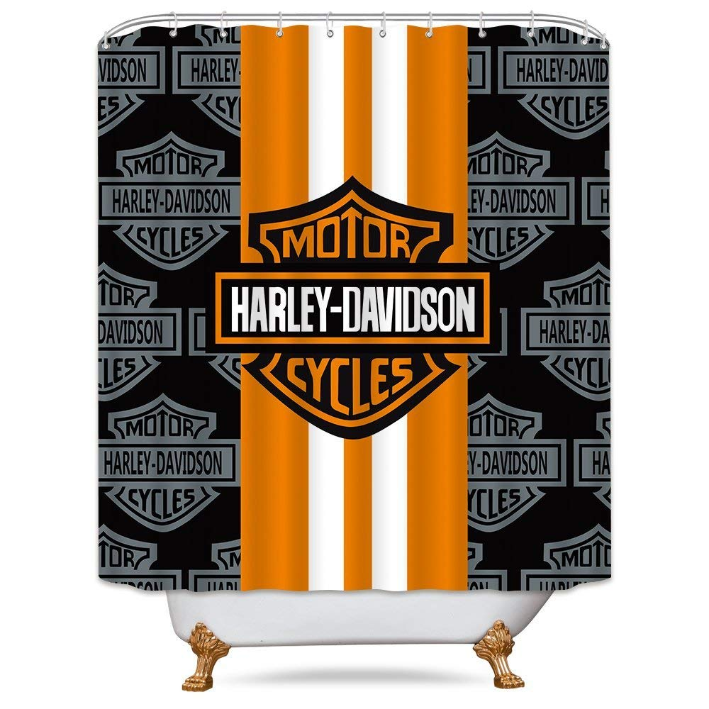 Get Quotations Cdcurtain Motorcycle Racing Waterproof Shower Curtain Alphabet Letter Decor Fabric Bathroom Set Polyester Orange Black 70