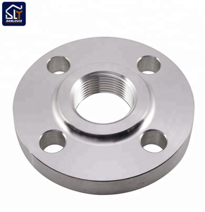 "China hardware fittings factory in Ningbo Sanlouis Stainless steel 1/2"" 3/4"" "" dn 15 floor flange"