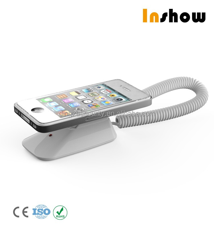 Wall Mount Mobile Phone Security Stand with Alarm Charging function