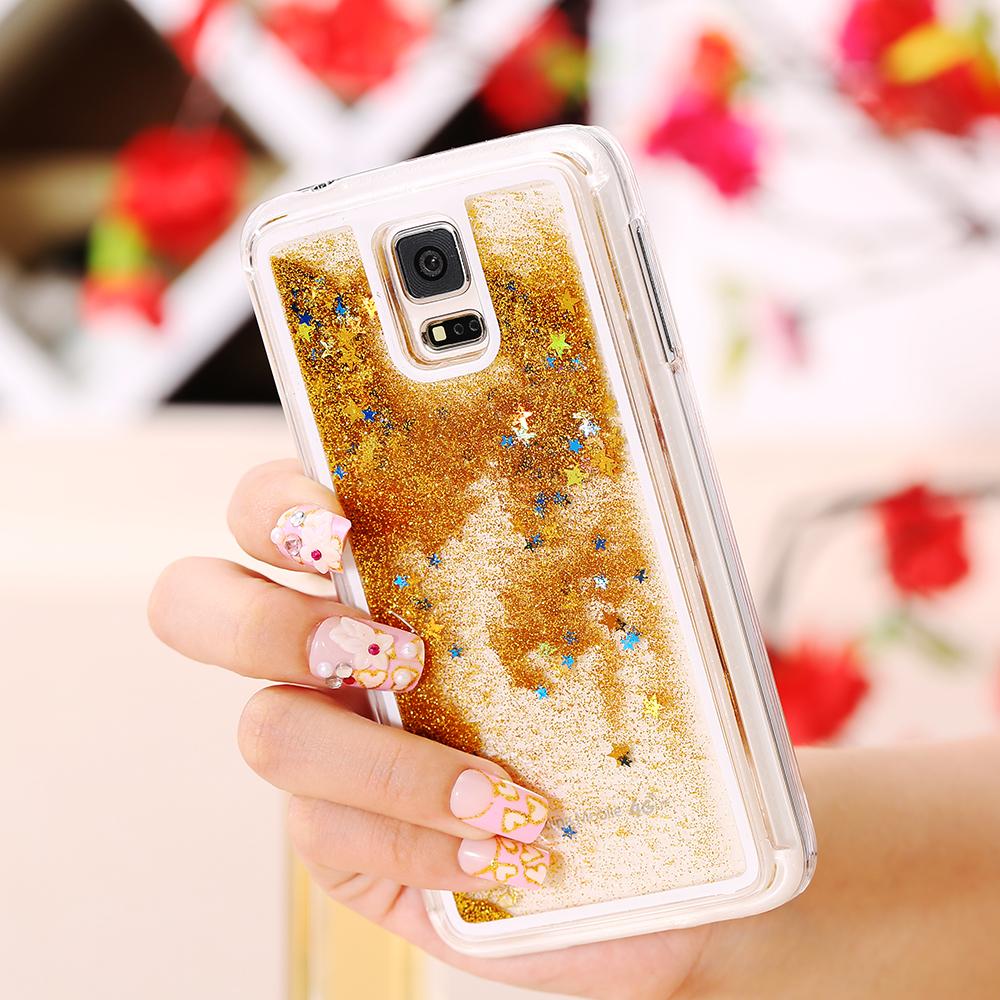 precio favorable Mejor precio 100% Calidad S5 Cute Liquid Glitter Sand Star Case Fundas For Samsung ...
