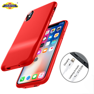 3.5mm Jack Connector Audio Case Cover For iPhone X