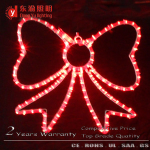 LED Bowknot motif personalized christmas holiday lighted ornament