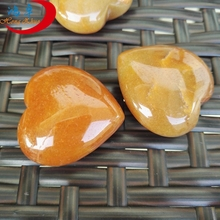 Crystal small heart Natural Healing Inspirational Heart Stones Puffy Shape Stone