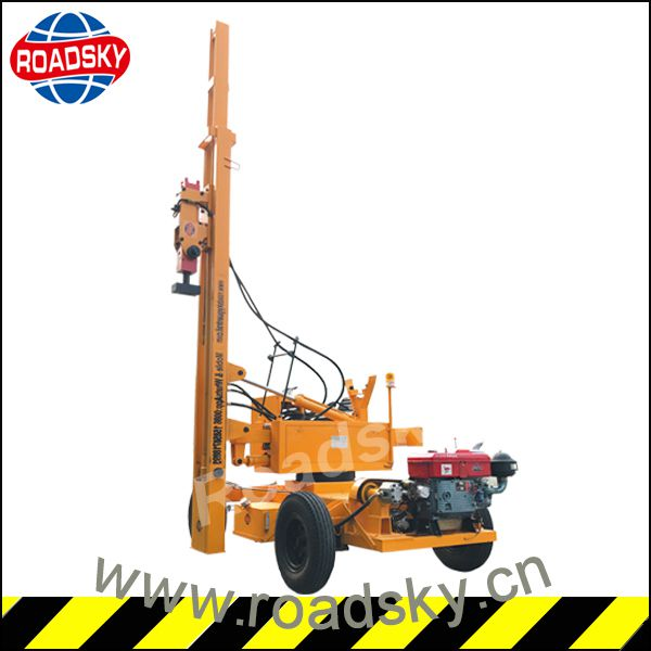 High Quality Guardrail Post Driving Machine for Sale