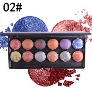 12 colors professional pressed matte baking powder 2018 eyeshadow baked eye shadow makeup palette shimmer set NC0855