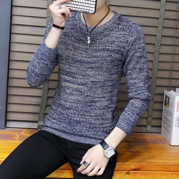 Wholesale western style cheap man round neck slim fit man pullover sweater