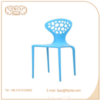 Excellent quality useful art blue deco dining chairs