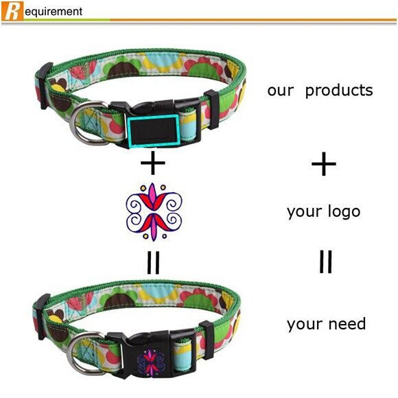 2020 heat transfer printing dog collars and leashes pet dog products