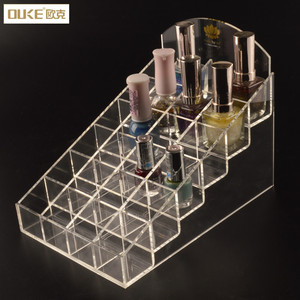 Custom plexiglass makeup cosmetic organizer acrylic lipstick display holder