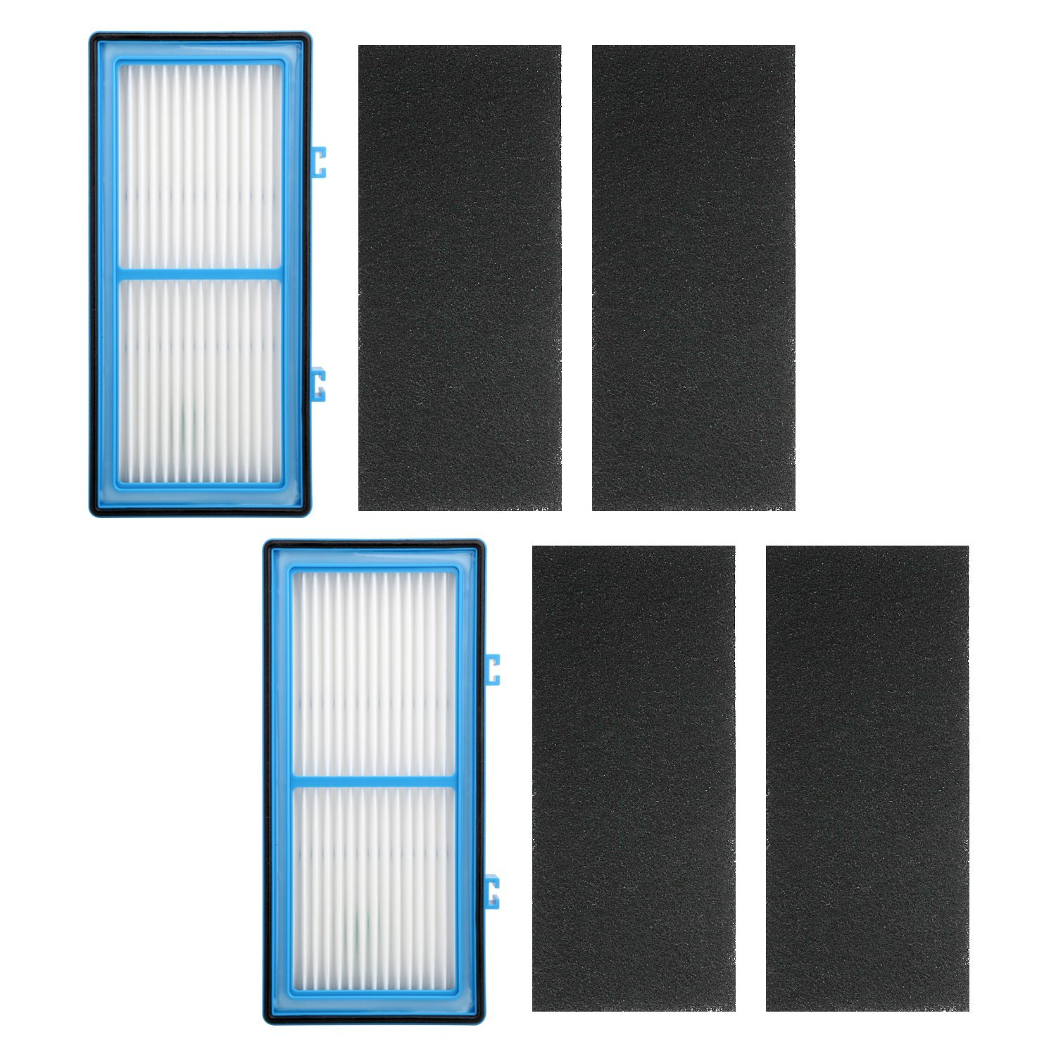 2 Pack Air Purifier Filters for Holmes AER1 HEPA Type Total Air Filter, HAPF30AT for Holmes HAP242-NUC Air Purifier Filter AER1 Series, Replace Type A Filter, 2 HEPA Filter + 4 Carbon Booster Filters