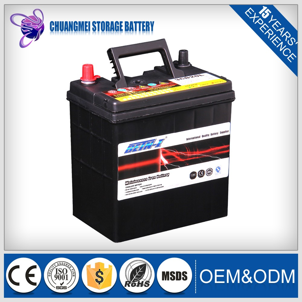 Trade Assurance Supplier Best Quality high capacity car battery 36B20L mf car battery