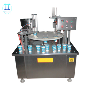 Automatic rotary ice cream cup filling machine auto cone ice cream packing machinery cheap price for sale