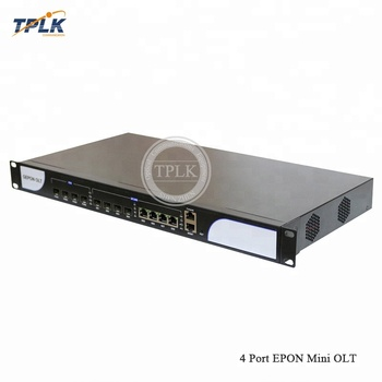 Low Cost Optical Mini Size 4PON Port GPON EPON OLT Fiber Communication Equipment for FTTH Network Solution, OLT Epon Price