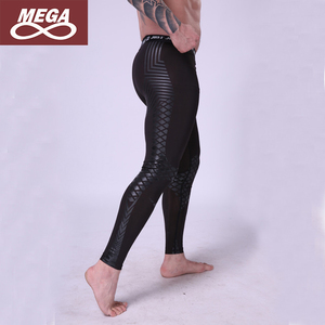 Men Compression Tights Pants Printing Water Sports Surfing Gym Training Jogging Athletic Leggings