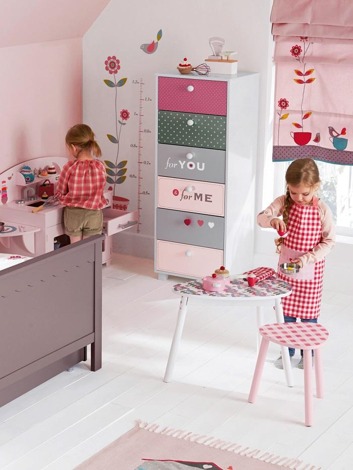 Anak Pakaian Penyimpanan Mainan Kayu Ruang Kabinet Dengan Laci