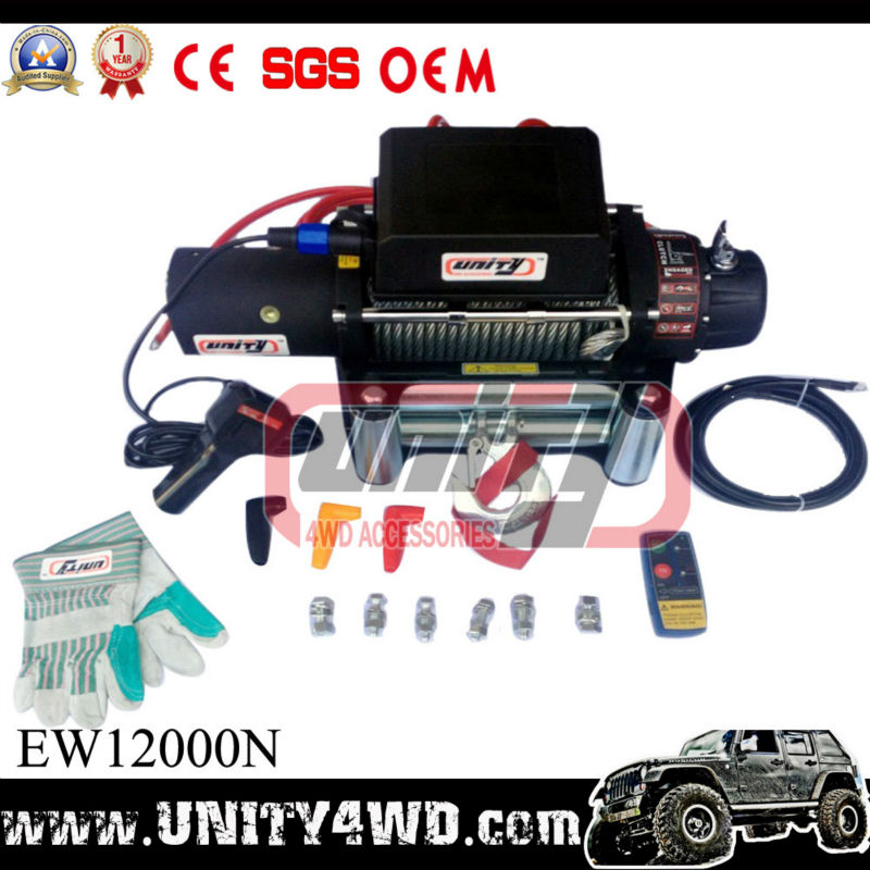 12000lb ELECTRIC WINCH for TRUCK 12V TRAILER RECOVERY WINCH