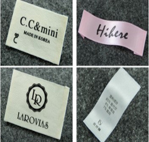 Oeko-tex Custom Design T shirt Woven Printed Branded Clothing Label