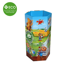 Point Of Sale Cardboard Hexagon Dump Bin For Retail
