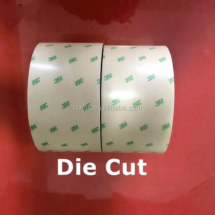 Buona qualità die-cut double sided bopp jumbo rotolo di nastro per su misura