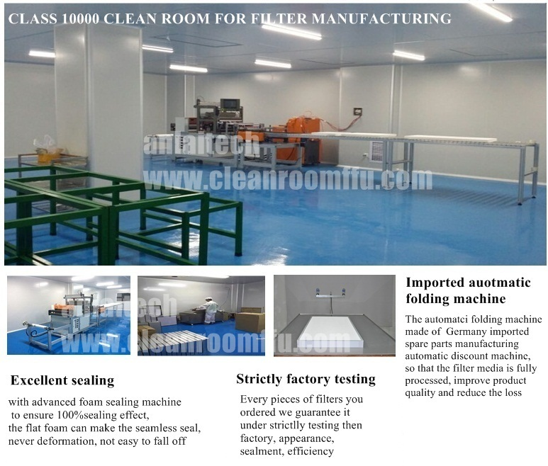 Class 1000 Clean Room T Grid Support Hardwall Modular Cleanrooms With FFU Part 95