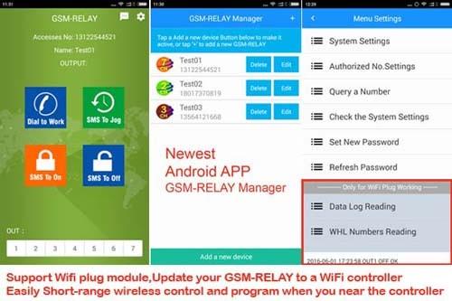 Gsm Remote Control Box Gsm Relay 4g Version Seven Big