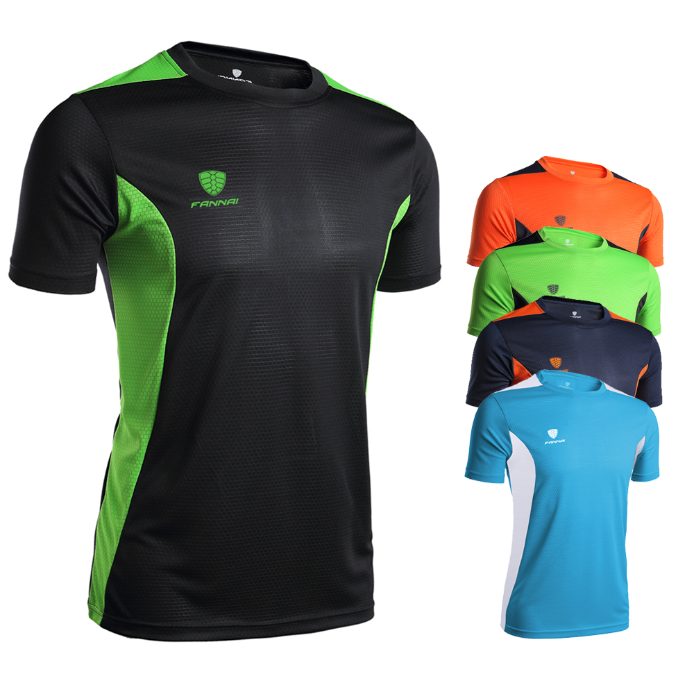 Wholesale Quick Dry Breathable T Shirt Anti-uv Men Sports Fitness T-Shirt