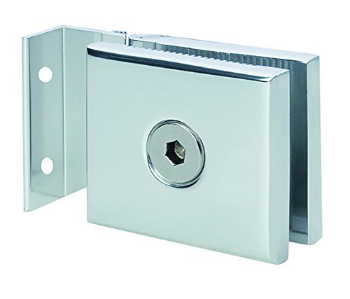 "Mini Hinge for 1/4"" Glass Shower Doors in Polished Chrome Finish, Durable commercial & residential, door hardware, door handles, locks"